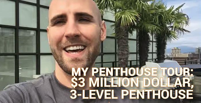 My Penthouse Tour:  $3 Million Dollar, 3-Level Penthouse on 27th Floor in Vancouver